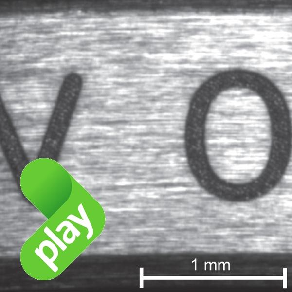 Gravage laser sur composants terminés